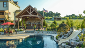 Combining Decorative Stone and Landscaping Around Your Pool, Patio, or Deck